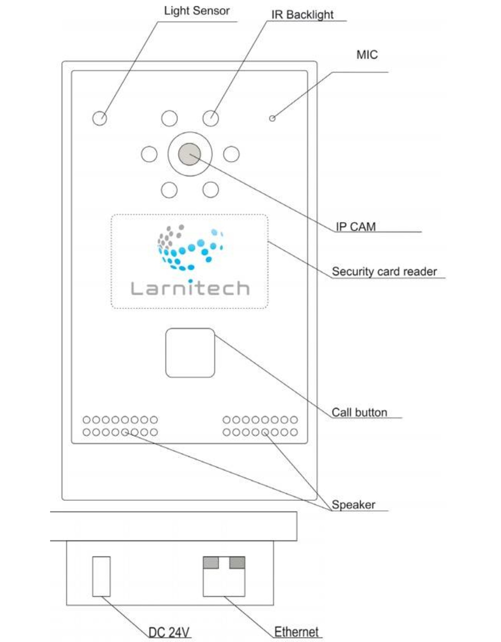 Larnitech FE-IC - Intercom inclusief Larnitech logo