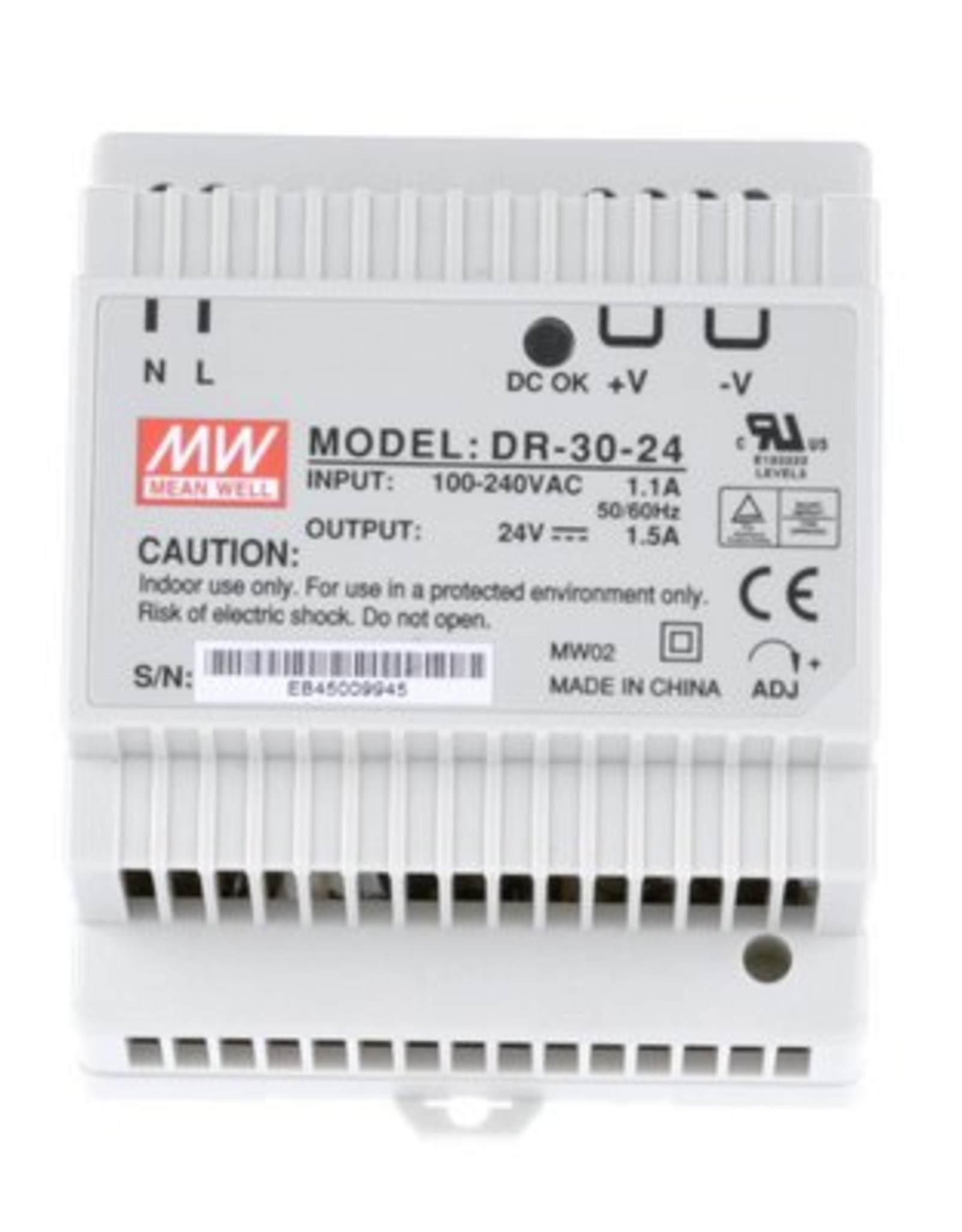 Mean Well Voeding Mean Well DR-30-24