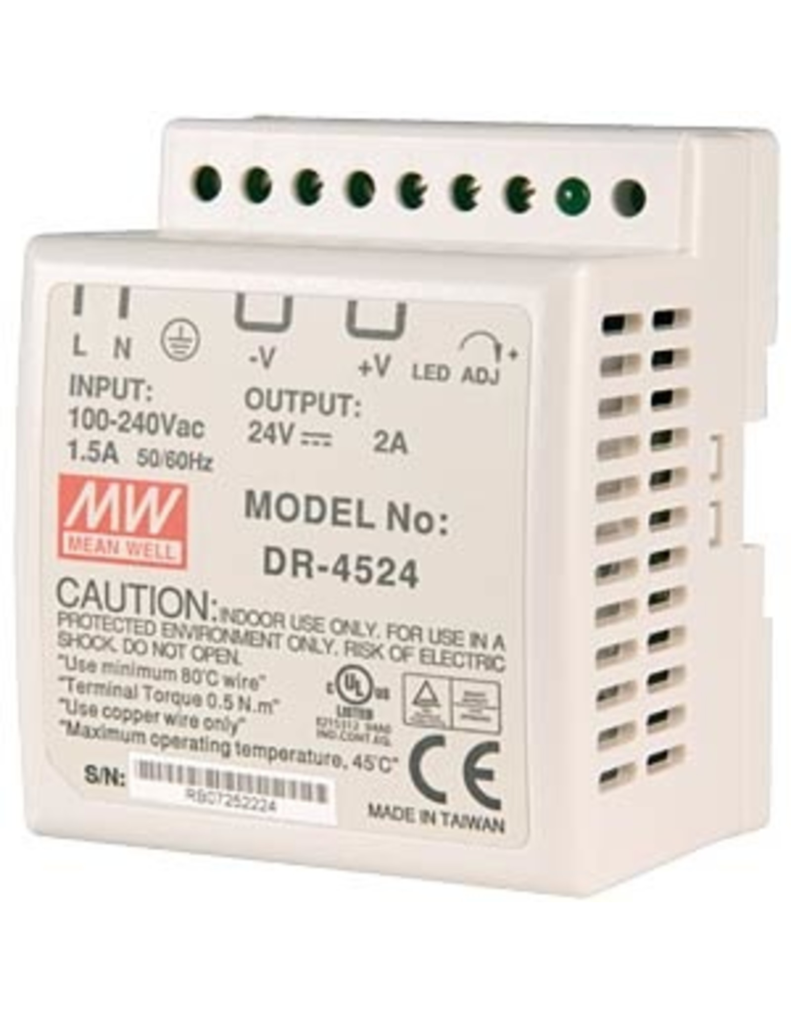 Mean Well Voeding Mean Well DR-45-24