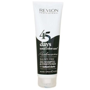 Revlon 45 Days 2 in 1 Shampoo, Radiant Darks
