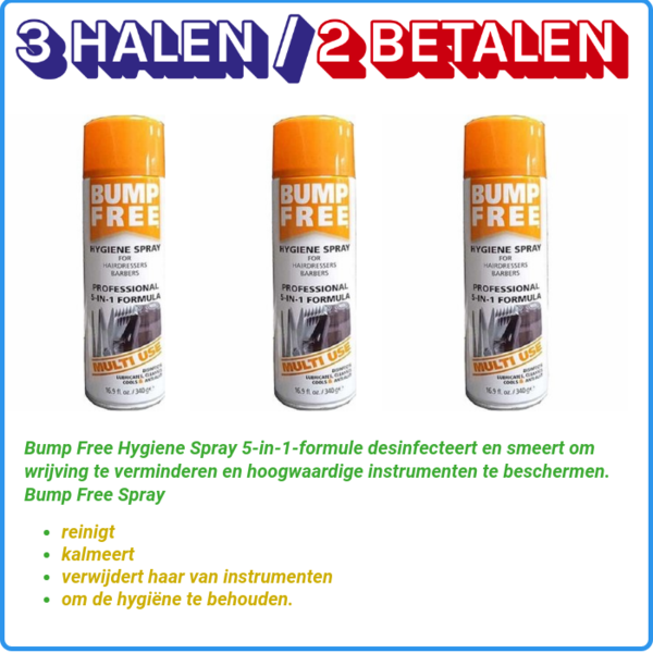 Bump Free 3 x Hygiene Spray, 340gr (2+1 gratis)