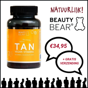 Beauty Bear Hair Vitamines Tan Vitamines, 60 Gummies