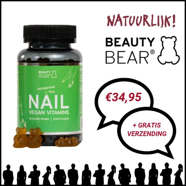 Beauty Bear Hair Vitamines Nail Vitamines, 60 Gummies