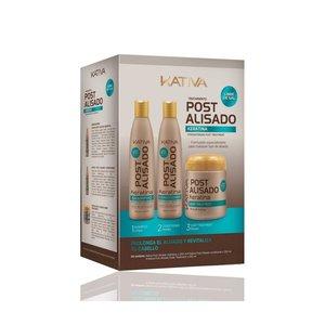 KATIVA Keratina Naverzorging  Shampoo 250 ml + Conditioner 250 ml + Mask 250ml