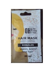 OH! My Sexy Hair Haarmasker met Glitter -  Rebuild, 20ml