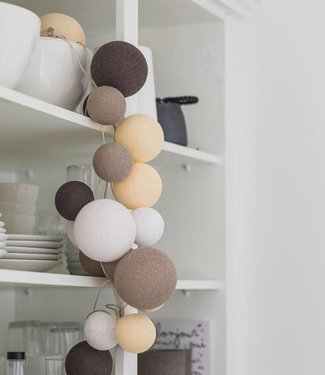COTTON BALL LIGHTS Premium Light String - Natural Softs