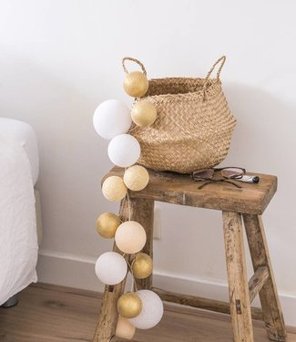 COTTON BALL LIGHTS Premium Lichterkette - Touch of Gold