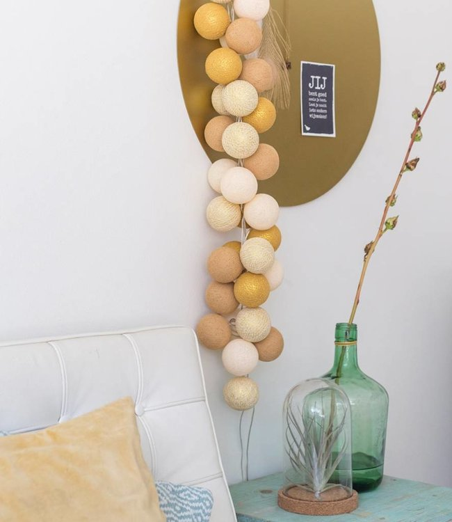 COTTON BALL LIGHTS Sparkling Lichtslinger - Gold/Mix