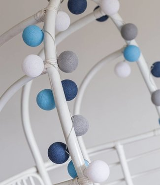 COTTON BALL LIGHTS Light String - Sailor Blue