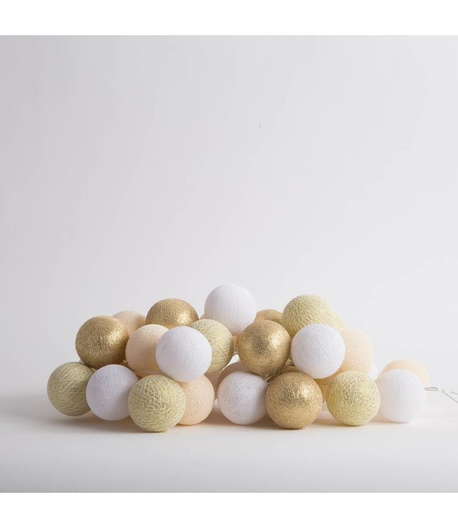 COTTON BALL LIGHTS Light String - Touch of Gold