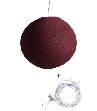 COTTON BALL LIGHTS Wandering Lamp - Dark Red