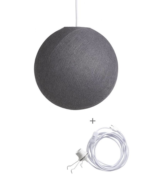 COTTON BALL LIGHTS Wandering Lamp - Mid Grey