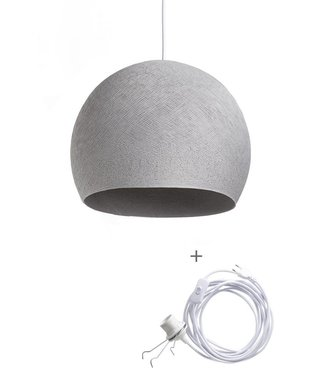 COTTON BALL LIGHTS Wandering Lampe Drei Viertel - Stone