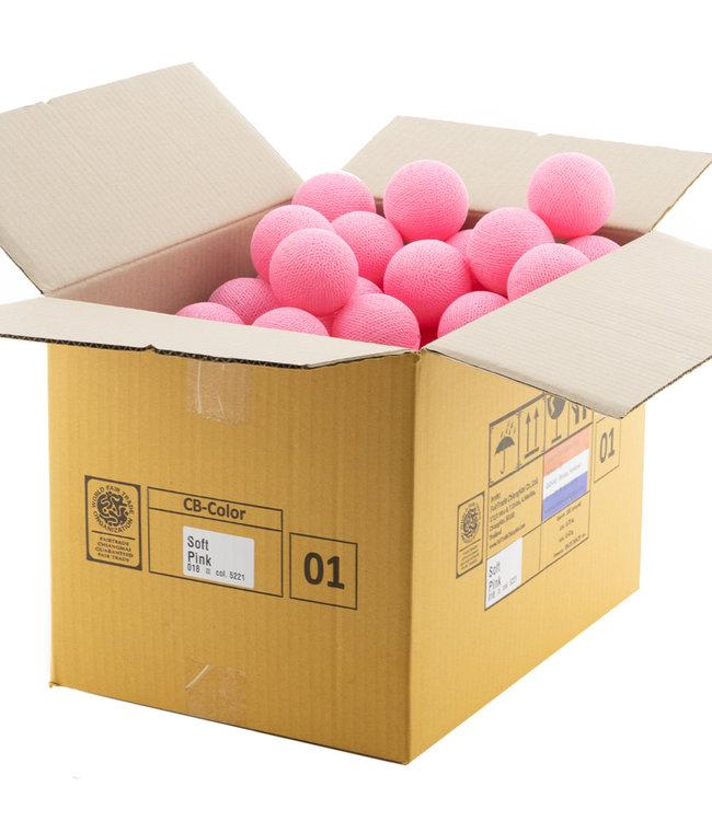 COTTON BALL LIGHTS Soft Pink