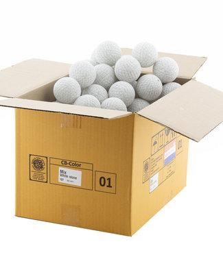 COTTON BALL LIGHTS Mix White Stone