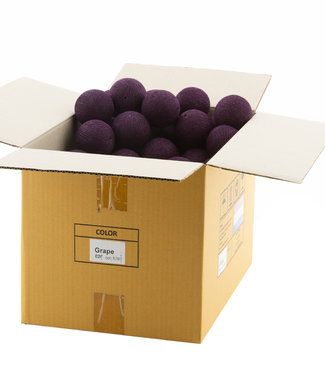 COTTON BALL LIGHTS Grape