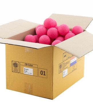 COTTON BALL LIGHTS Bright Pink