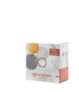 COTTON BALL LIGHTS Presentatie Box Lamp Met Labels