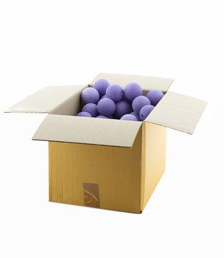 COTTON BALL LIGHTS Lavender 6 cm