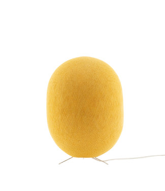 COTTON BALL LIGHTS Oval Stehlampe - Mustard Yellow