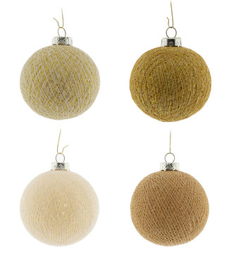 COTTON BALL LIGHTS Kerstmis Cotton Balls - Gold Mix