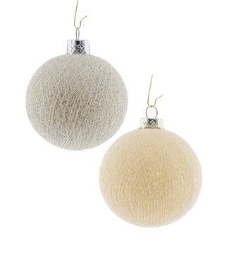 COTTON BALL LIGHTS Christmas Cotton Balls - Silver Bells