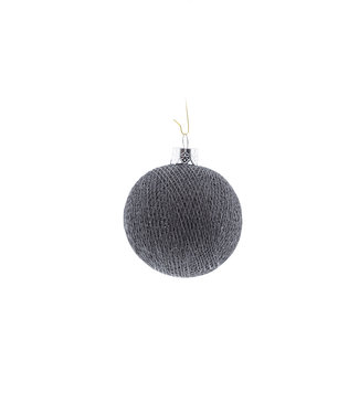 COTTON BALL LIGHTS Christmas Cotton Ball - Mid Grey