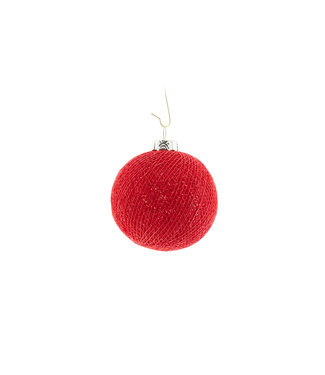COTTON BALL LIGHTS Christmas Cotton Ball - Red
