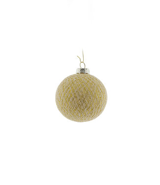 COTTON BALL LIGHTS Christmas Cotton Ball - Shell Gold