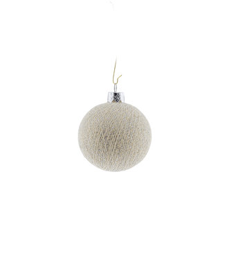 COTTON BALL LIGHTS Christmas Cotton Ball - Shell Silver