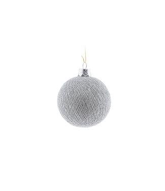 COTTON BALL LIGHTS Christmas Cotton Ball - Stone Silver