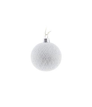 COTTON BALL LIGHTS Christmas Cotton Ball - White Silver
