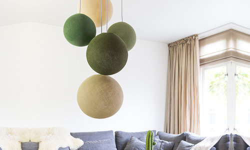Fivefold Hanging Lamps