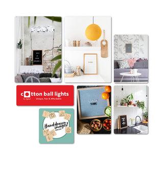 COTTON BALL LIGHTS Set Forex Panelen - Letterboards