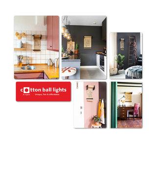 COTTON BALL LIGHTS Set Forex Panels | Kraft Paper Roller
