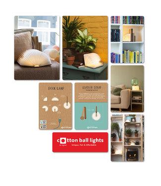COTTON BALL LIGHTS Set Forex Panels |Book Lamp