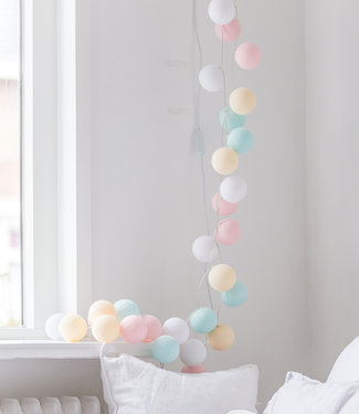 COTTON BALL LIGHTS Regular Lichterkette - Pastel