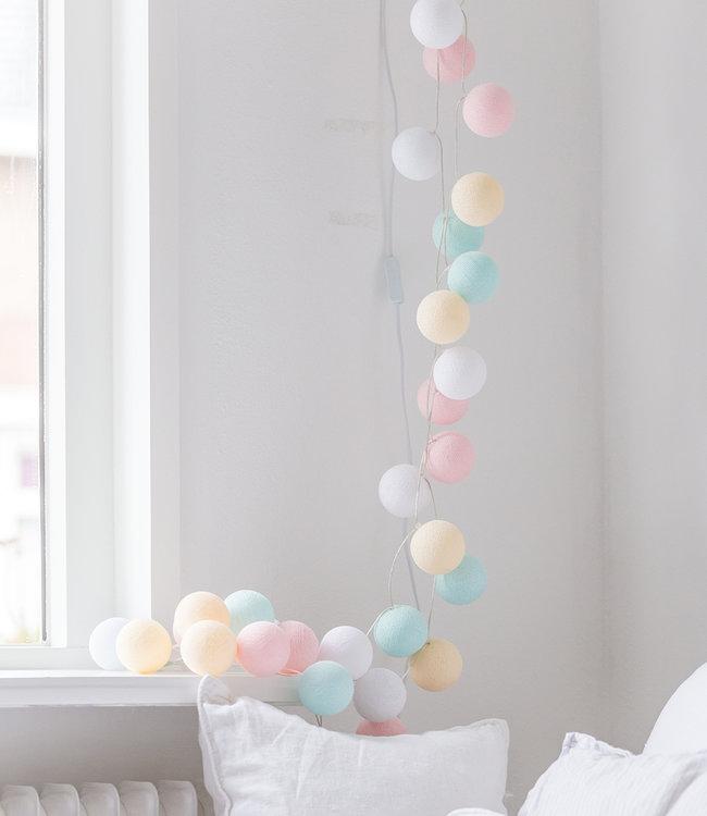 COTTON BALL LIGHTS Light String - Pastel