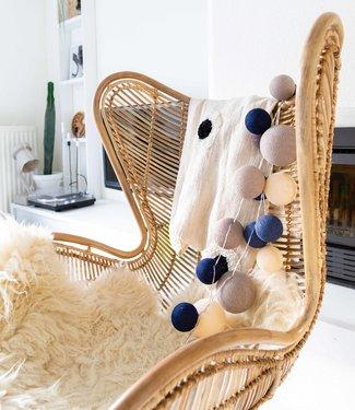 COTTON BALL LIGHTS Premium Lichterkette - Stylish Blue