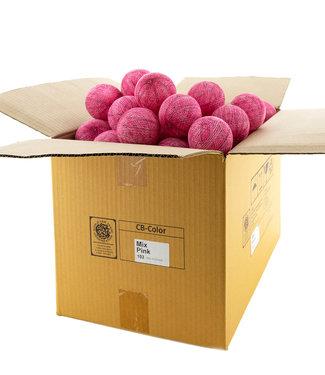 COTTON BALL LIGHTS Mix Pink