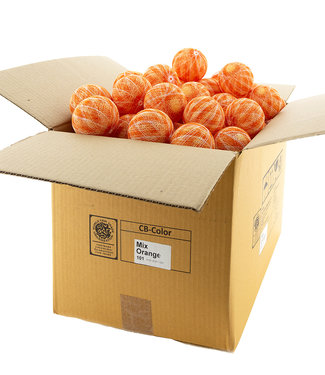 COTTON BALL LIGHTS Mix Orange