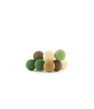 COTTON BALL LIGHTS Regular Lichtslinger - Glamping Green