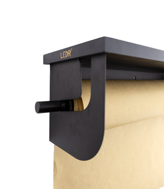 LEDR Wooden shelf - Black