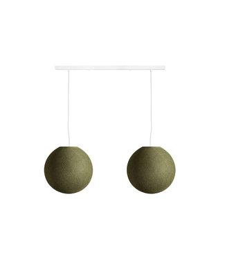 COTTON BALL LIGHTS Double Hanging Lamp Ceiling - Kaki