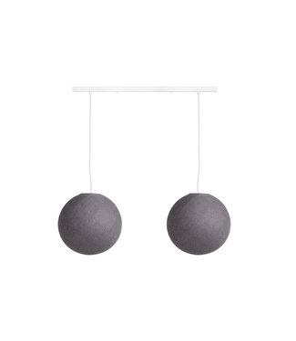 COTTON BALL LIGHTS Double Hanging Lamp Ceiling - Mid Grey
