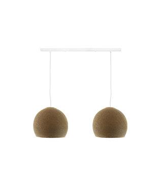 COTTON BALL LIGHTS Tweevoudige hanglamp balk - Driekwart Caffe Latte