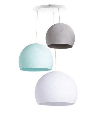 COTTON BALL LIGHTS Drievoudige hanglamp 3 punt - Driekwart Sea Breeze