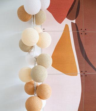 COTTON BALL LIGHTS Regular Light String - Creamy