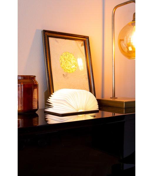 Boek Lamp Walnoot Bruin