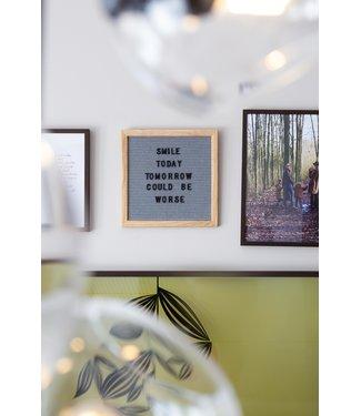 LEDR Letter Board Grau